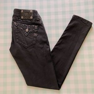 Miss Me black low rise skinny jeans size 26
